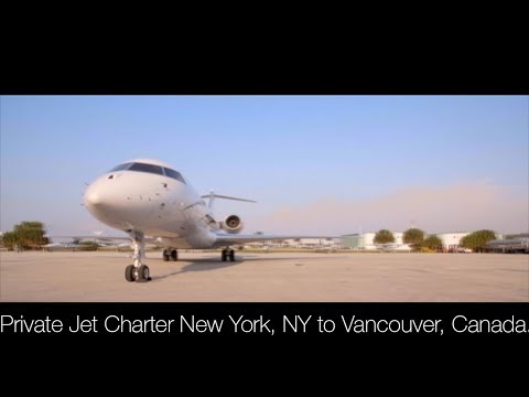 Private Jet Charter New York, NY to Vancouver, Canada
