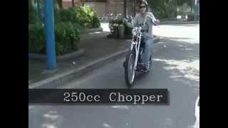 250cc, 400cc V-Twin choppers / Bobbers. American made...in China