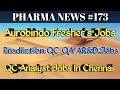 PHARMA NEWS #173 | Aurobindo Annora Actavis Pharma Jobs For Freshers & Experience #PharmaGuide