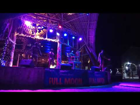 Acrobatic in the opening of a Full Moon party at Kendwa Rocks, Zanzibar (03.02.2017)