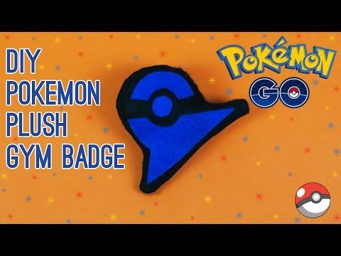 DIY Pokemon Go: Plush Gym Badge Pin