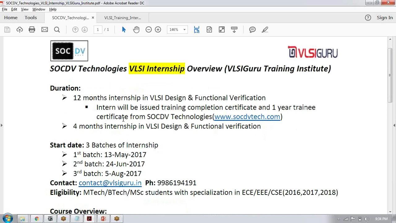 Online VLSI Front End Training For Freshers - vlsi