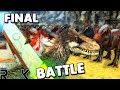 ARK Survival Evolved - THE FINAL SHOWDOWN! YUTY VS REX, YUTYRANNUS VS ALLO & THERI ( Gameplay )