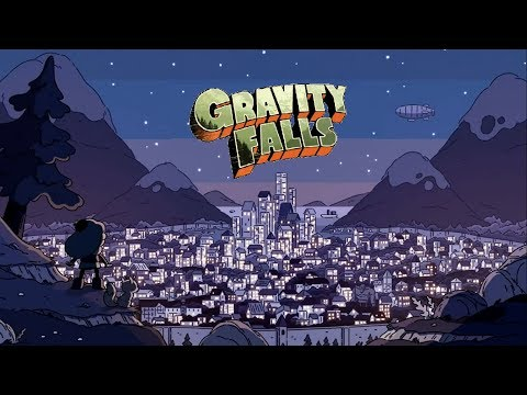 The Gravity Falls opening but with the theme song from Hilda