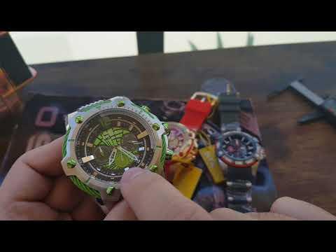 Relógios Invicta Marvel Homem de ferro 26796, Hulk 25985 e Thor 27036 Análise Completa Full Review