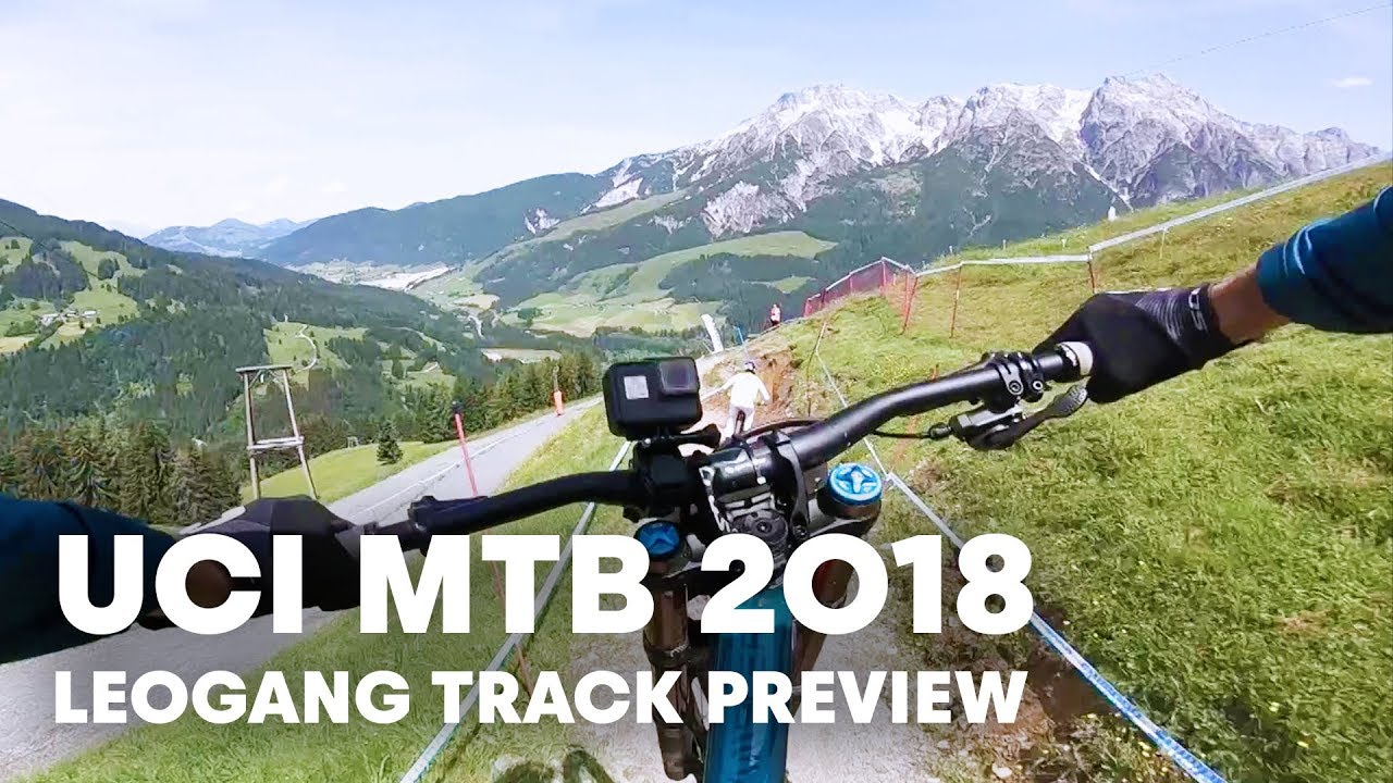 Andrew Neethling follows Loïc Bruni down the Leogang World