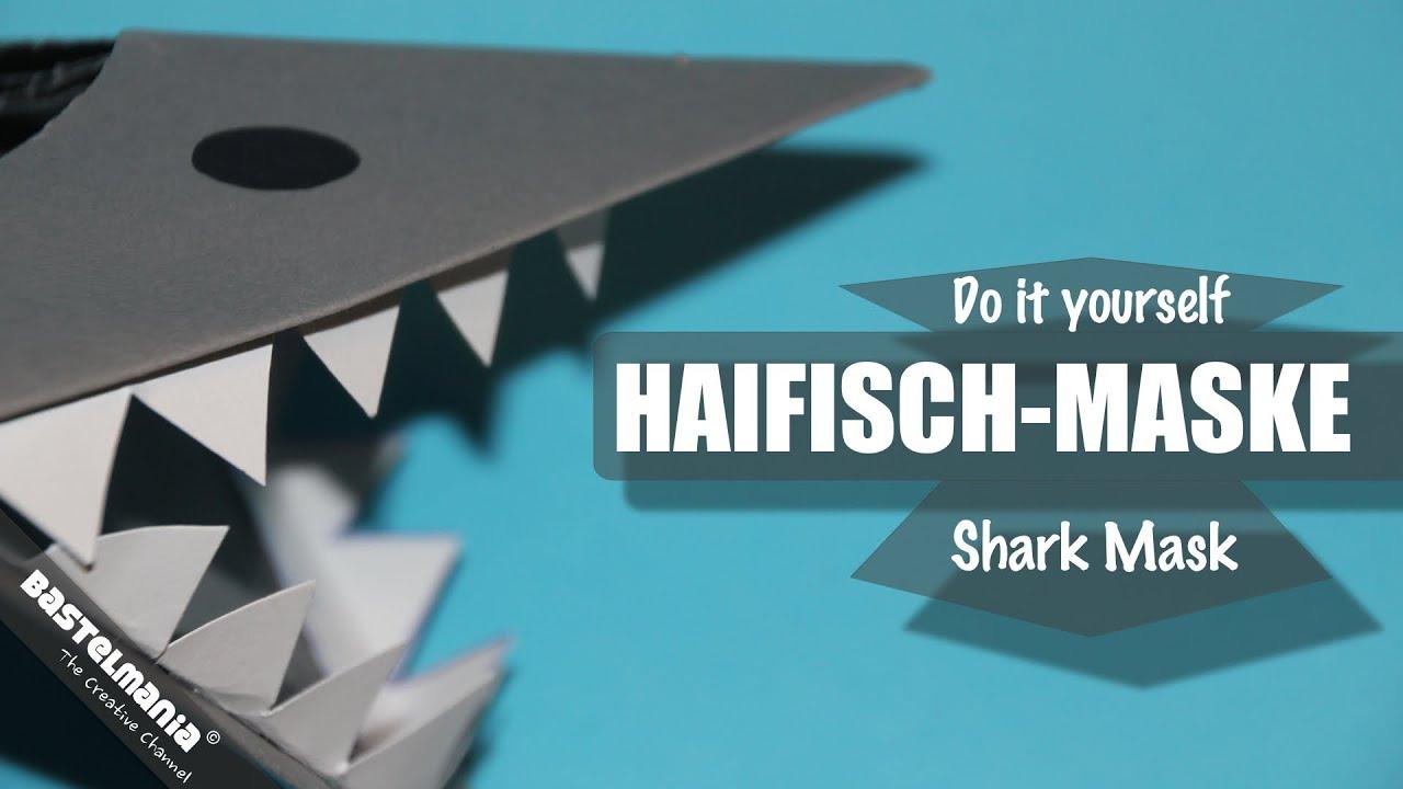 karnevalskost m haifisch maske shark mask youtube. Black Bedroom Furniture Sets. Home Design Ideas