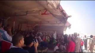 Workers holiday in the new Suez Canal: celebrations and chants of Viva Egypt