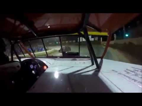 GoPro In-Car Camera with Power Outage Matt Mevert Summer Nationals at Belle-Clair Speedway 6/24/15