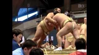 稀勢の里×勢 ぶつかり稽古 2013年4月6日 大相撲藤沢場所