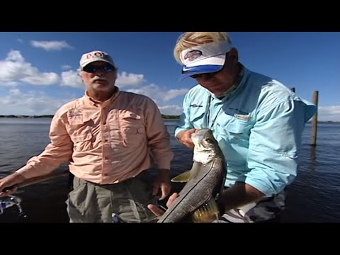 Snook Fishing Docks with DOA Lures in Stuart Florida