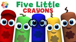 Five Little Monkeys - 3D Nursery Rhymes | Color Crew 3-D Animation | 3D Rhymes for Kids | BabyFirst