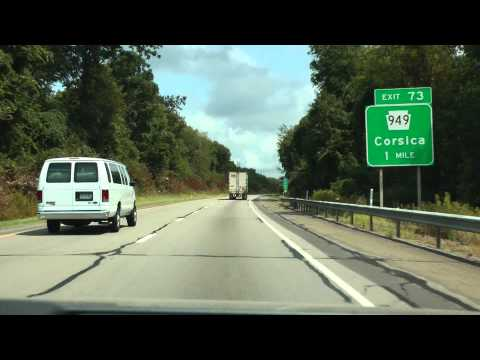 I-80 east in Pennsylvania August 19, 2013 (part 1 of 4)