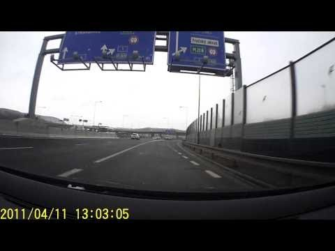 OurPlanet || Driving from center of Prague to snowy suburb - Czech Republic in winter 2013