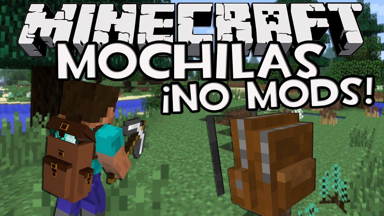 Minecraft trucos mochilas sin mods con solo un comando - Decoraciones para minecraft sin mods ...