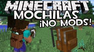 Minecraft TRUCOS: MOCHILAS SIN MODS Con Solo Un Comando! (100% Vanilla)