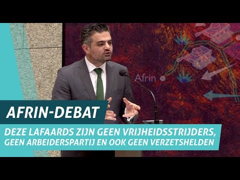 Tunahan Kuzu (DENK) tijdens Afrin-debat 'Turkse aanval op Syrië'