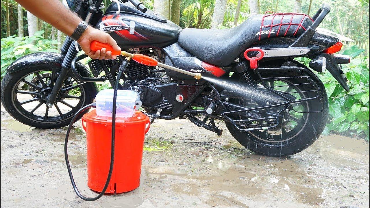 Bike Washing Machine >> How To Make Portable Bike Car Washer Youtube