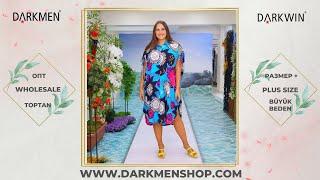 Летняя женская туника больших размеров DARKWIN от DARKMEN Турция Стамбул Оптовые продажи