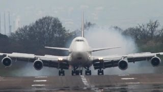 UPS Boeing 747 hard landing at Cologne (HD)
