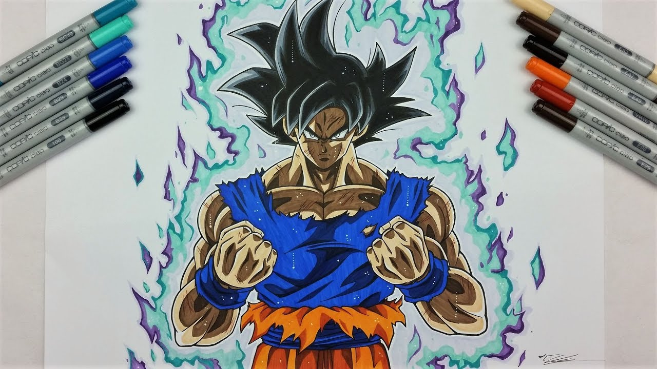Drawing goku ultra instinct new form tolgart youtube - Goku ultra instinct sketch ...
