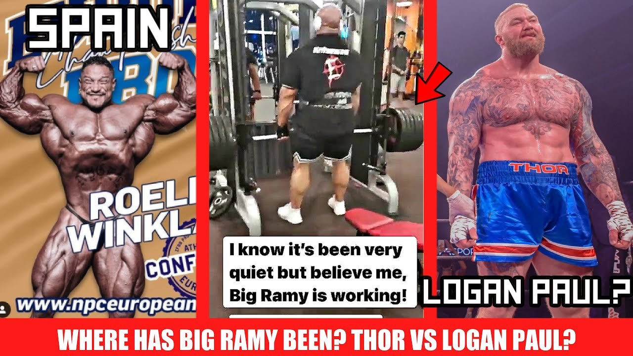 Recent Footage of Big Ramy + Roelly Competing in Spain + Hafthor boxing Logan Paul? + MORE
