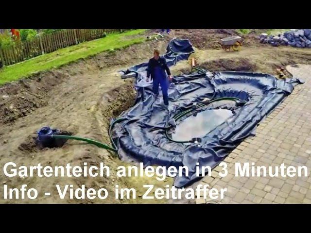 Gartenteich anlegen in 3 Minuten – Gartenteich mit Bachlauf bauen ...