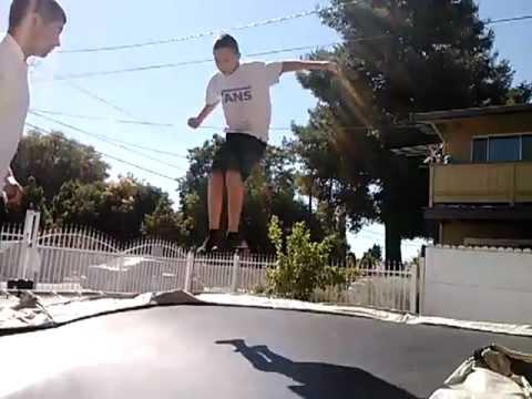 Raw kid doing back fips
