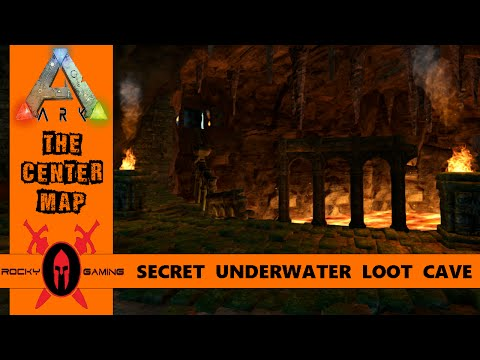 ARK: NEW SECRET UNDERWATER LOOT CAVE!! THE CENTER MAP