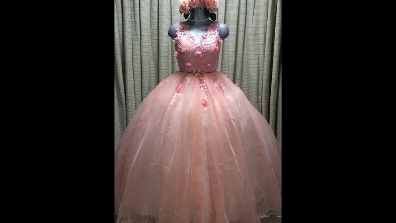 Vestido De 15 Xv Anos Dulces 16 Con Bordados Flores 3d Modelo 2018