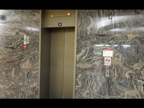 GRACEFUL but COOL 1979 Otis Lexan Traction Elevator @ WSU Holland Library, Pullman, WA