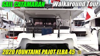 2020 Fountaine Pajot Elba 45 Sail Catamaran - Walkaround Tour - 2020 Miami Boat Show