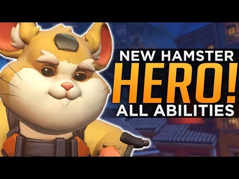 Overwatch: NEW Hero Wrecking Ball Gameplay! - ALL Abilities Breakdown!