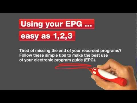 How to use your Electronic Program Guide (EPG)