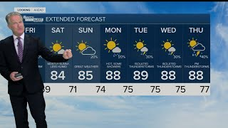 Latest Weather Forecast 11 p.m. Thursday