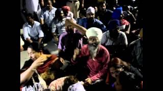 AAP candiate (Patiala) Dr Dharamvira Gandhi attacked by Akali Gundas, Dharna continues