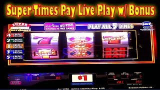 ⭐ SUPER TIMES PAY FREE GAMES ⭐ LIVE PLAY REEL SLOT MACHINE