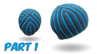 slip stitch crochet / bosnian crochet - Hazelnut Beanie english version part 1