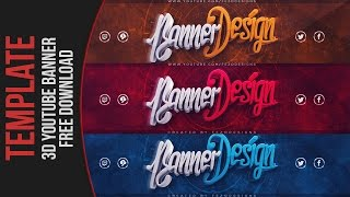 Cool 3D YouTube Banner Template | FezoDesigns | Free Download