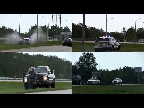 Police Chase on Interstate 75 near Naples - Sheriff Collier County in Action | High Speed Pursuit