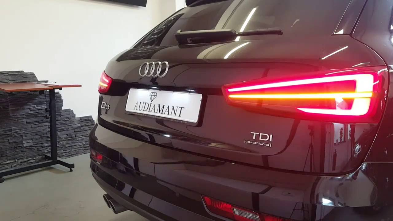 audi q3 8u facelift led r ckleuchten dynamischer blinker. Black Bedroom Furniture Sets. Home Design Ideas