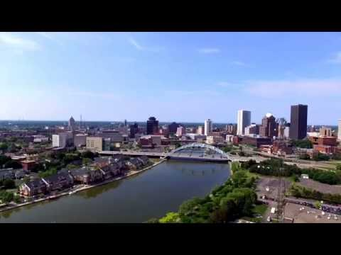 Flying around downtown Rochester