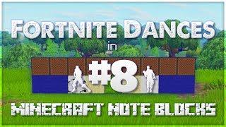 ♪ Fortnite Dances in Minecraft Note Blocks (Groove Jam, Squat Kick, Tidy) ♪