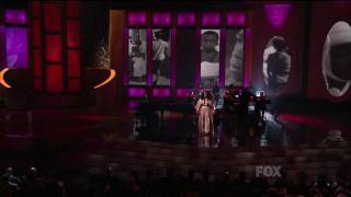 jill scott performs hear my call at the 41st naacp image awards