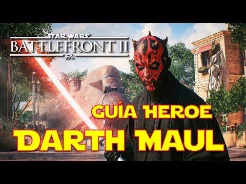 Star Wars Battlefront 2 Como Jugar con Darth Maul, Mejores Cartas, Trucos, Habilidades (Guía héroe)