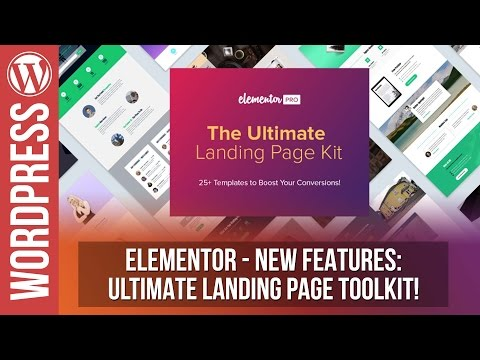 ELEMENTOR: The Ultimate Landing Pages Toolkit - 동영상