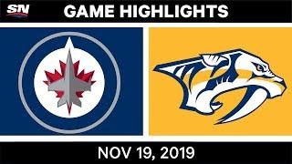 NHL Highlights   Jets vs Predators - Nov. 19, 2019