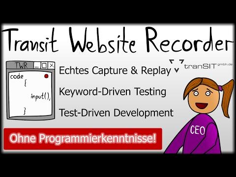 Transit Website Recorder - Testwerkzeug für Webanwendungen | tranSIT GmbH
