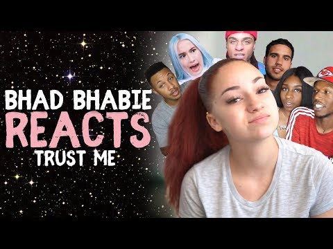 "Danielle Bregoli reacts to BHAD BHABIE ""Trust Me"" Roast and Reaction Vids"