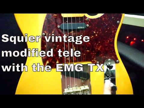 Modifying a Squier vintage modified telecaster with the EMGs TX thumbnail